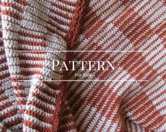 The Checkerboard crochet blanket pattern-a beginner afghan pattern