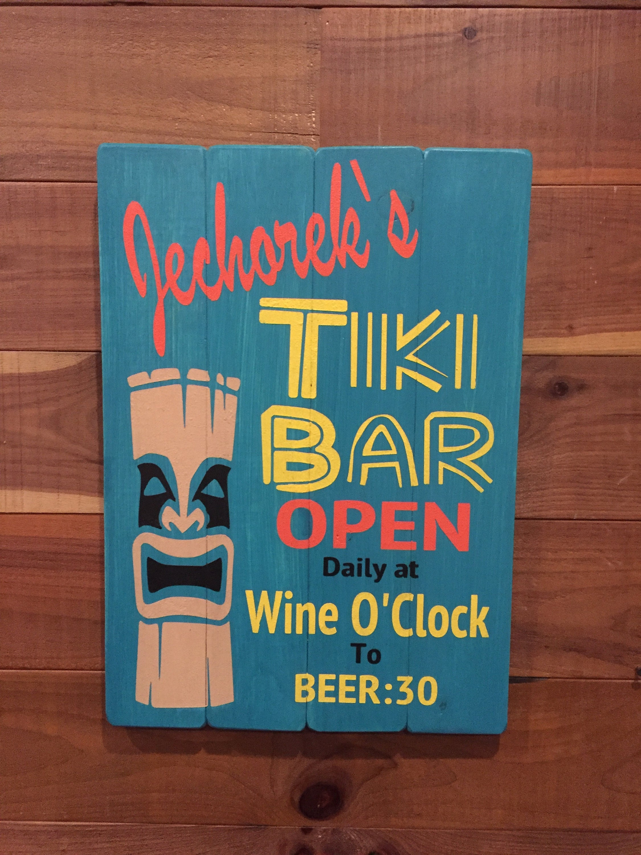 Tiki-Bar Schild personalisierte Strandbar Zeichen Custom