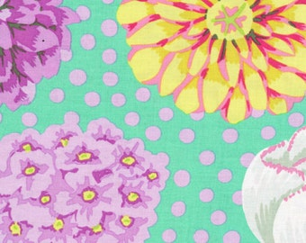 Kaffe Fassett - Big Blooms Green - 1/2 yard cotton quilt fabric 516
