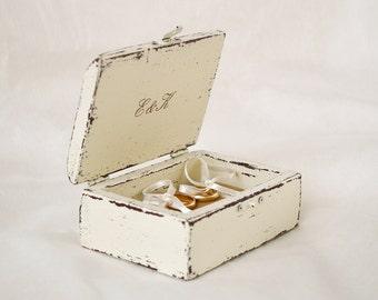 Wedding Ring Box Rustic Ring Bearer Box Love Birds Proposal Ring box Wooden Engagement Ring Box
