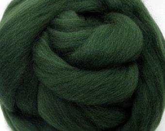 4 oz. Merino Wool Top - Sage Leaf - Ships Free