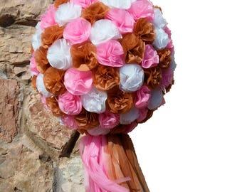 Flower Piñata with Pompom. Wedding. Anniversary