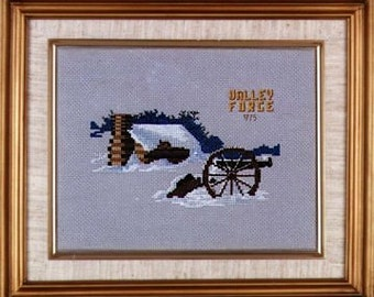 Valley Forge in Winter CHART ONLY for counted cross stitch