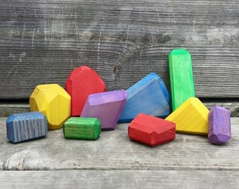 Wooden Treasure, Pirate Treasure, Dwarf Mine, Dragon Cave, Precious Stones, Precious Gems, Unique Blocks, Open Ended Toy, Cooperative Game