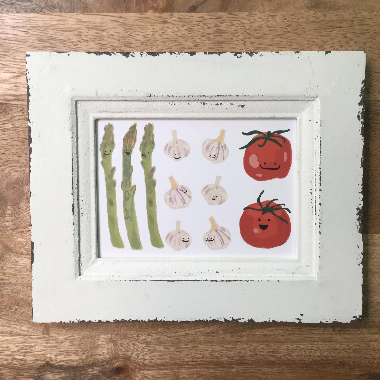 italienische Flagge Gemüse Druck 5 x 7 Küche Essen Essen