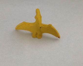Vintage Yellow Pterodactyl Eraser 1980s 80s