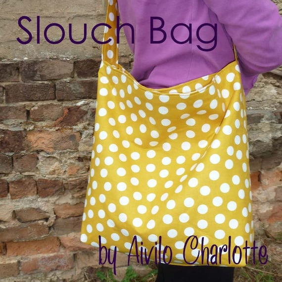 PDF Sewing Pattern Aivilo Slouch Bag Easy purse to sew