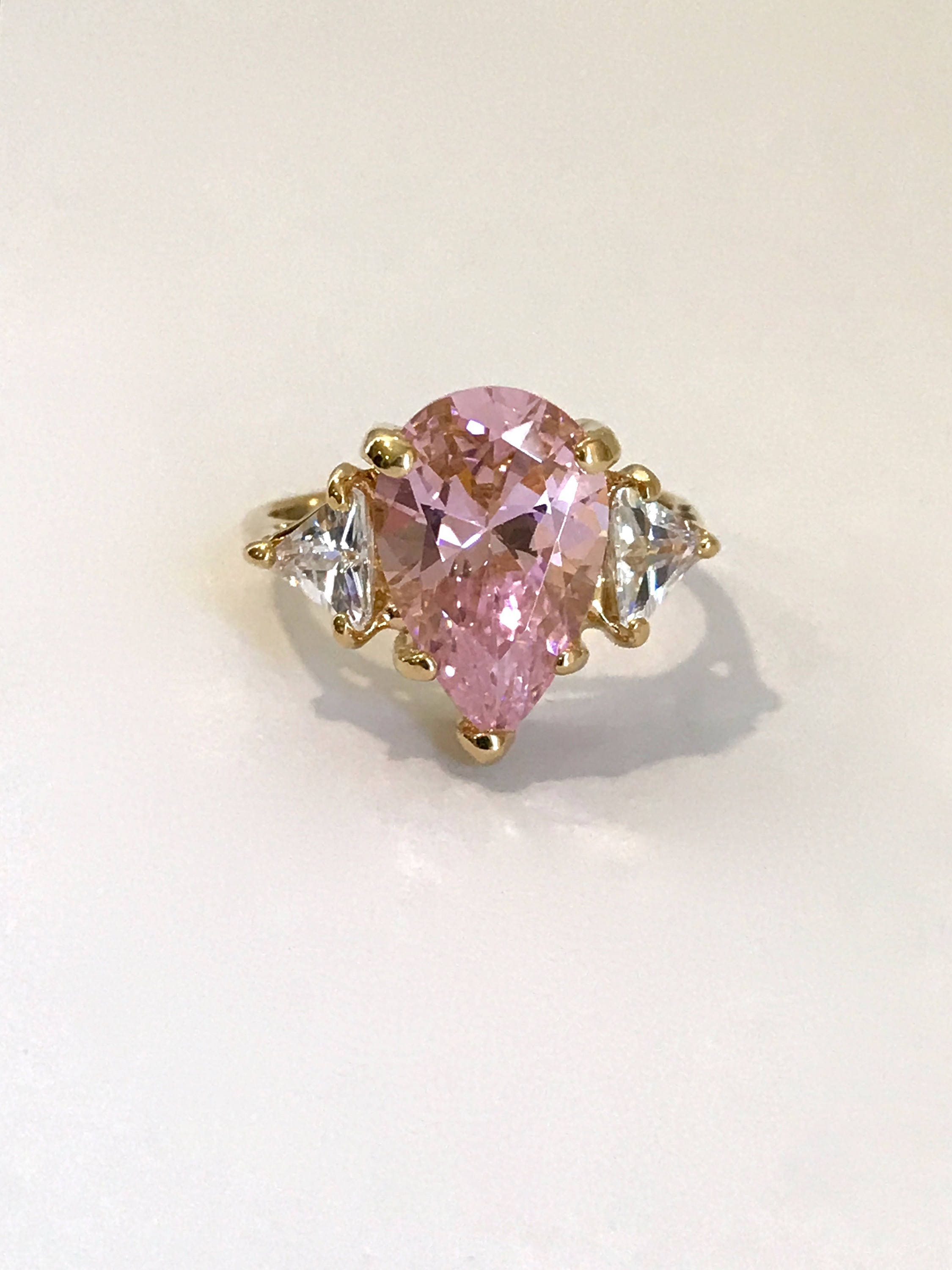 and stone pink avanti rings gold diamond tourmaline three ring womens engagement white image dress