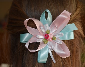 Pastel Satin Hairbow - Hand stitched