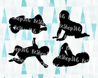 Baby SVG, Baby silhouette SVG, New born SVG, Nursery Svg, Baby boy Svg, Baby girl Svg, Mother Svg, Instant download, Eps - Dxf - Png - Svg