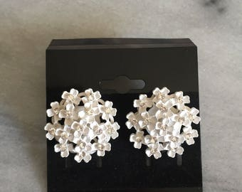 White sparkle earrings