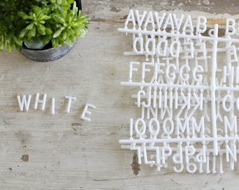 1 inch White Letter Set - 342 Pieces!