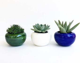 Handmade Round Ceramic Planter Pot Bowl