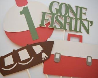 Fishing Centerpieces, Fishing Theme Birthday, Fishing Party Decor, 1st Birthday Decor, Birthday Party Decor