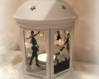 Peter Pan Inspired Lantern, Tea light Holder,  Lantern, Candle Glow Gift set