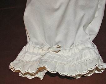 Cream Lacy Ruffled Bloomers
