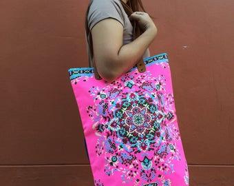 Pink Beach Bag Spring Fashion Canvas Tote Bag