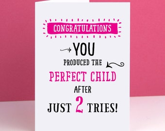 Mum Perfect Child Card Mothers Day Card Mum Birthday Card Mom Birthday Card Birthday Cards for Her Funny Card Mother's Day Card for Mum