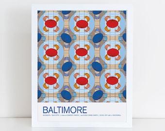 Baltimore, Maryland travel poster