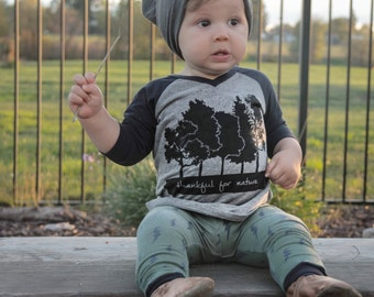 Thankful for Nature shirt-nature lovers shirts-graphic tees for kids-tree lovers shirt-kids clothing-screen printed tees and hoodies