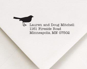 Return Address Stamp - Thank you gift, Wedding, Housewarming, Birthday - Lauren and Doug design