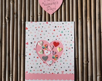 Love Card – Handmade Card - Birthday Card – Anniversary Card – Romantic Card – Anytime Card – You're As Sweet As Candy Love Card
