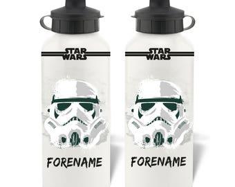 Personalised Star Wars Storm Trooper Paint Aluminium Water Bottle