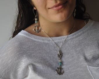 The Sea set: necklace and earrings