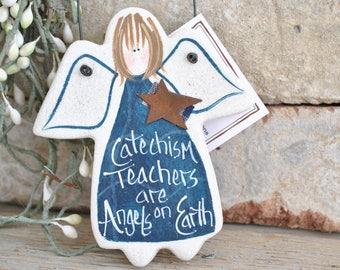 Catechism Teacher Gift Idea Salt Dough Angel Ornament / Teacher Appreciation Gift