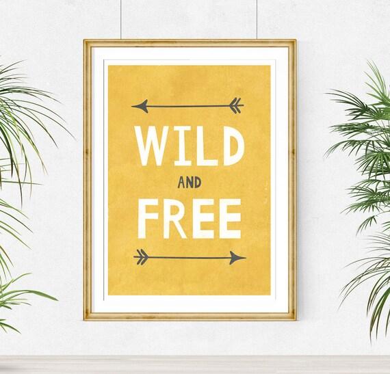 Baby Boy Room Decor Wild and Free Printable Wall Art