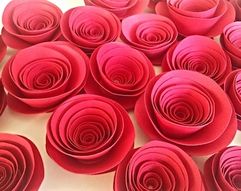 Valentine's Day Red Paper Flowers, Valentine Love, Red Rose Decor, Valentines Flower