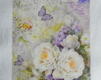 TRANSFER. Transfer 218 style shabby roses and butterflies