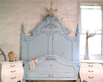 Painted Cottage Chic Shabby French Marie Antoinette Bed BD21