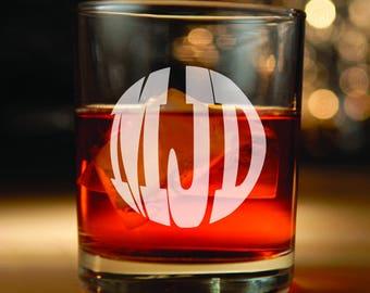 Monogrammed Whiskey Glasses personalized: whiskey glass set, whiskey glass, whiskey, rocks glasses, barware, scotch glass, groomsmen gift