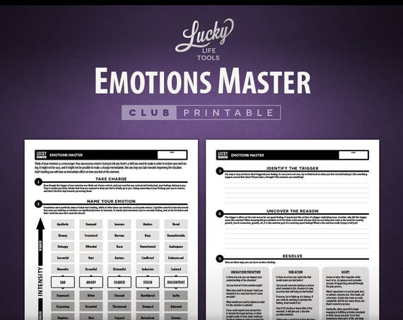 Emotions Master - CLUB Printable Exercise