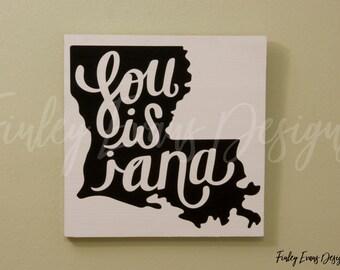 Wooden Louisiana Sign