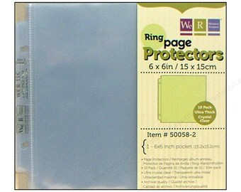 We R Red 6x6 Page Protector Refills Pack - 10 Page Protectors