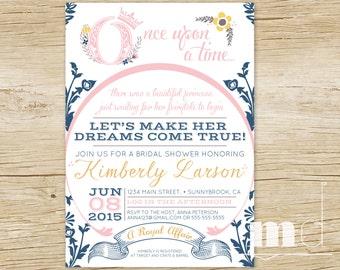 Fairytale Bridal Shower Invitation, Fairytale Wedding Invite, Cinderella Wedding Invitation, Once Upon a Time Bridal Shower Invite PRINTABLE