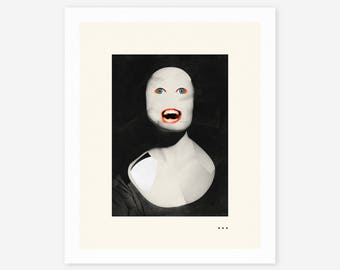HUNGRY GHOST (Giclée Fine Art Print/Photo Print/Poster Print) Surreal, Abstract Collage