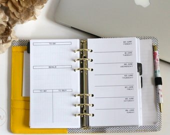 Personal Ring Size : Week On One Page + Chaos Grid | PRINTED Planner Inserts | DreamPlanRepeat