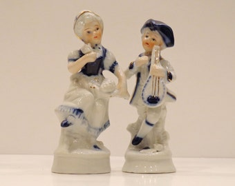 Couple of Dancing Figurines Colonial Costumes