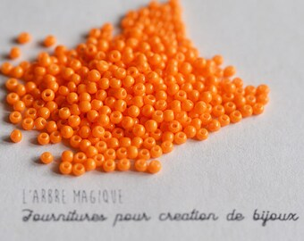 10g orange small opaque more or less 1200 beads 2 mm