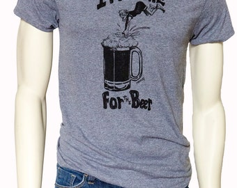 Tall Tshirt | I'm here for the beer | Men's classic T Shirt | Beer Tshirt | Up to size Tall 3XL | Beer Fest tees.