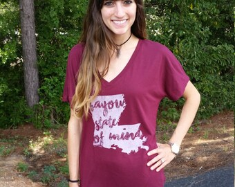 Louisiana Bayou State of Mind Flowy Tee