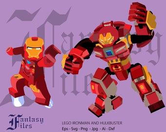 Hulk buster and ironman. svg-png-dxf-jpg-ai-eps. Instant DOWNLOAD