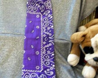 Plastic Bag Holder Sock, Purple Paisley Print