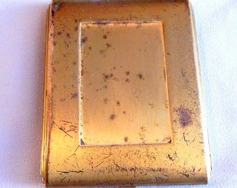 Vintage Compact, Space for Powder and 2 Rouge Pots