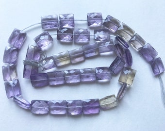 "16""stunning rGem quality Ametrine faceted beads strand"