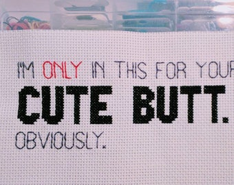 Cute Butt Cross Stitch