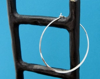 hammered, sterling hoops - ginormous, XXL, 16ga, 2 inch